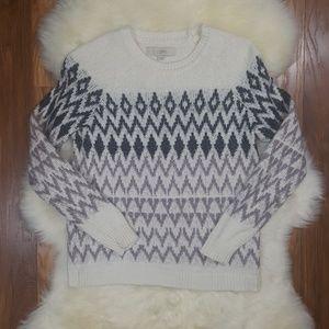 Ann Taylor Loft Wool Blend Fair Isle Sweater Small